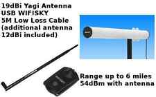 WiFi Outdoor 35dBm (54dBm) 3W Yagi Antenna 5M cable SKY Booster  USB 19dBi