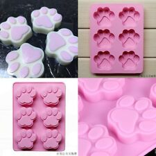 Cat Dog Paw Shape Silicone Bakeware Mold Chocolate Cookie Candy Baking Mould F