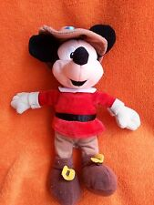 """Disney Store Mickey Mouse Robin hood soft toy beanie 9"""""""