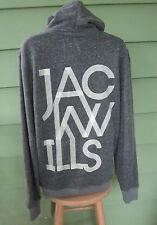JACK WILLS LONDON ENGLAND SIGNATURE GRAPHIC HOODIE JACKET Women's Medium RARE