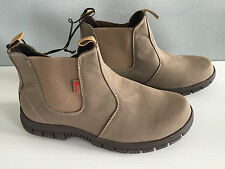 BNWT Older Boys Sz 6 Rivers Doghouse Brand Tan Elastic Side Pull On Boots