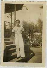 PHOTO ANCIENNE - MILITAIRE MARIN TENUE GAY - MILITARY SAILOR - Vintage Snapshot
