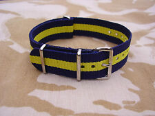 British Army PWRR TRF/Stable Belt Colours Heavy Duty G10 Military Watch Strap