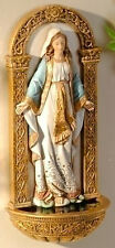 "NEW! 7"" Our Lady of Grace WALL FONT Statue Figurine Virgin Mary Madonna GIFT"
