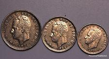 3 PIECES ESPAGNE MONARCHIQUE LE ROI JUAN CARLOS 1° monnaie  5 , 25 et 50 PESETAS