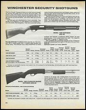 1991 WINCHESTER Model 1300 Defender & Stainless Marine Defender Shotgun AD
