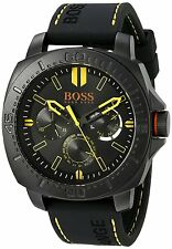 HUGO BOSS ORANGE BLACK STEEL 46mm SILICONE SAO PAULO JAPAN MOVEMENT 1513243