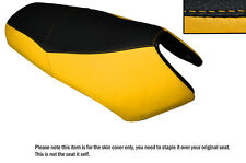 BLACK & YELLOW CUSTOM FITS YAMAHA BWS YW 125 DUAL LEATHER SEAT COVER ONLY