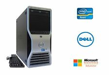 Dell Precision T5500 2x Xeon Quad Core 2.93GHz 16GB RAM SSD + HD NVIDIA Win 10