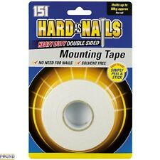 Hard As Nails 5m Heavy Duty Double Sided Mounting Tape Holds up to 50kg Per Roll