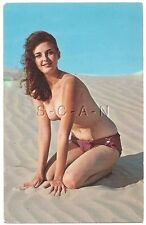 Org 1950s-60s Nude Pinup Chrome PC- Brunette- Bikini Bottom- Oasis- Bunny Yeager