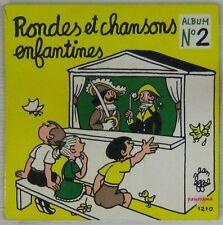 Jean Effel 45 tours Rondes et chansons N°2 Pochette jaune