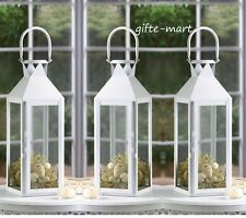 "10 lot large WHITE 15"" tall Candle holder Lantern lamp wedding table centerpiece"