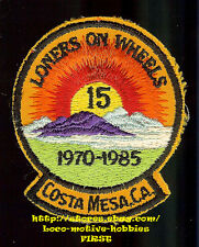 LMH Patch LONERS ON WHEELS  Single Campers Travelers LOW 1970-1985 COSTA MESA CA