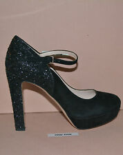 NIB PRADA MIU MIU GLITTER SUEDE PUMPS SHOES SZ EU 38.5 US 8.5  MADE IN ITALY