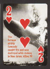 The Hindenberg Zeppelin Air Ship Disaster Neat Playing Card #7Y3