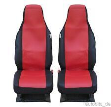 2 Auto Sitzbezüge Schonbezüge Schonbezug Einteilig Rot für Smart Fortwo 2015