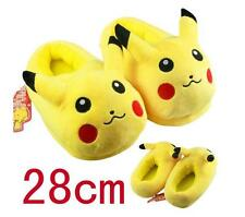 1 paire pokemon pikachu en peluche pantoufles plush chaussures soft warm home slipper T-009