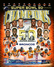2016 Super Bowl 50 DENVER BRONCOS Team Peyton Manning, Von Miller++ 8x10 photo