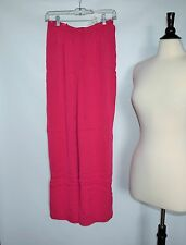 NWT  Valerie Stevens stratch 86% Silk Pink Red Womens Pants Size M