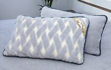 TWO 100% Merino Wool Pillowcase Pillow Cover CASHMERE Size 45 x 75 cm NEW