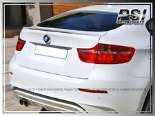 Painted 300 Alpine White Factory OE Type Trunk Lip Spoiler For 08-13 BMW E71 X6