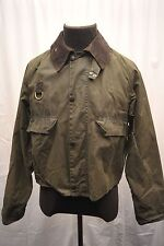 *RARE* BARBOUR A130 SPEY WADING FISHING WAX COTTON JACKET GREEN LARGE FQ27
