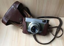 Vintage Collectible Rare German Photo Camera WERRA Carl Zeiss Lens Leather Case