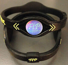 Power Energy Band Bracelet Wristband (SMALL BLACK/YELLOW) FAST SHIP