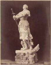 Photo de la Statue de Jeanne d'Arc par Allouard Montigny-lès-Metz France Albumin