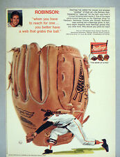 "Rawlings ""Bellows Web"" Baseball Glove PRINT AD - 1970 ~ Brooks Robinson"