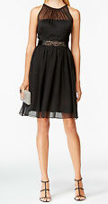 Adrianna Papell New Belted Chiffon Halter Dress Size 2 #B 1414(2)