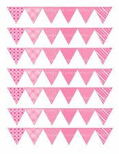 edible cake ribbon decorating icing Bunting Pink mixed patterns