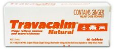 Travacalm Natural Sea Sick Motion Sickness Tablets 10 (Ginger)
