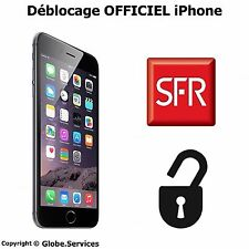 Déblocage Officiel Iphone SFR CLEAN IMEI 3GS/4/4S/5/5C/5S/6/6+/6S Désimlockage