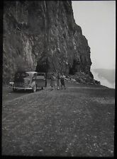 Glass Magic Lantern Slide NORWEGIAN LOCATION NO41 C1930 PHOTO NORWAY CAR