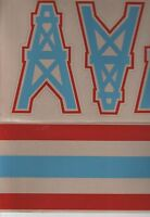 HOUSTON OILERS FULL SIZE FOOTBALL HELMET DECALS W/STRIPE
