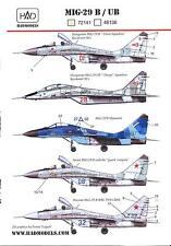 Hungarian Aero Decals 1/72 MIKOYAN MiG-29B/UB FULCRUM Soviet Jet Fighter