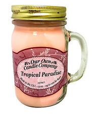 Tropical Paradise Scented Candle in 13 oz Mason Jar by Our Own Candle Company
