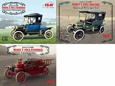 LOT 3 KITS AMERICAN CAR FORD ( T 1913 T 1911 T 1914 ) 1/24 ICM 24001 24002 24004