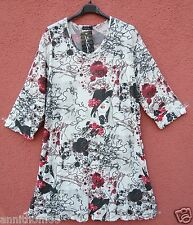 NEU SARAH SANTOS Tunika Shirt Tunic Tunique Tunica XXL 52 54 Lagenlook