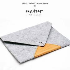 "11""11.6"" Felt Laptop Cover Sleeve Bag Notebook PC Case Pouch For Macbook Air Pro"