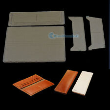 Leather Wallet with 8 Card Slots Pattern DIY Leather Craft Acrylic Template Set