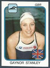 PANINI SUPERSPORT 1988/89- #212-ENGLAND-SWIMMING-GAYNOR STANLEY