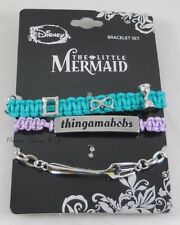 New Disney The Little Mermaid Ariel Thingamabobs Cord & Chain Charm Bracelet Set
