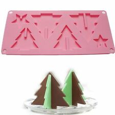 3D Christmas Trees Stars Chocolate Mold Silicone Cookies Candy Mold Fondant Mold