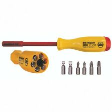 Wiha 38006 Multi-Bit Screwdriver, Slotted and Phillips, 1000 Volt