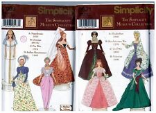 "Simplicity 7089 9521 Barbie 11 1/2"" Doll Historic Dress Pattern s Retired Uncut"
