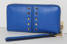 NWT MICHAEL KORS ASTOR CHAIN LG COIN MLT FUNT PHONE CASE WRISTLET ELECTRIC BLUE