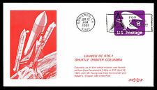 1981 LAUNCH OF STS-1 SHUTTLE ORBITER COLUMBIA - EDWARDS, CA - U592 (ESP#3923)